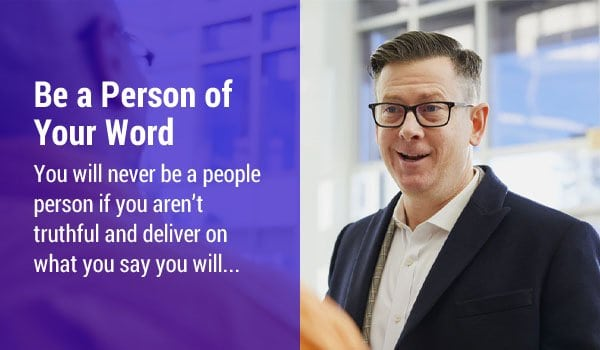 Be a Person of Your Word